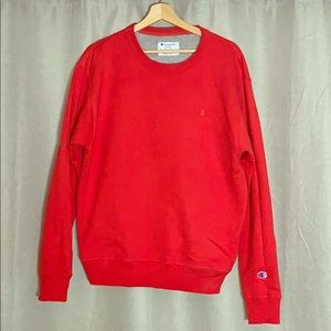 Red Champion Crewneck